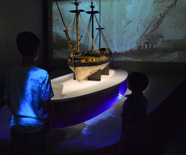"""La exposición """"El último viaje de la fragata Mercedes"""" se exhibe en el Museo Nacional de Antropología : Foto © Melitón Tapia INAH"""