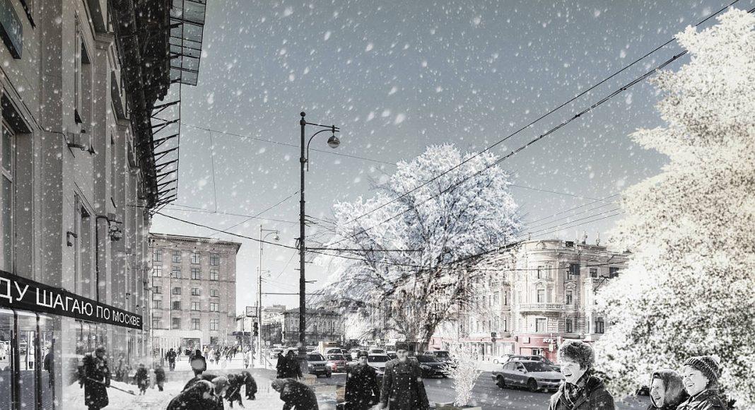 Diseño Finalista del Concurso para el Mejoramiento del Entorno Urbano de Tversakaya en Moscú : Render © Architecture-Construction Design Studio