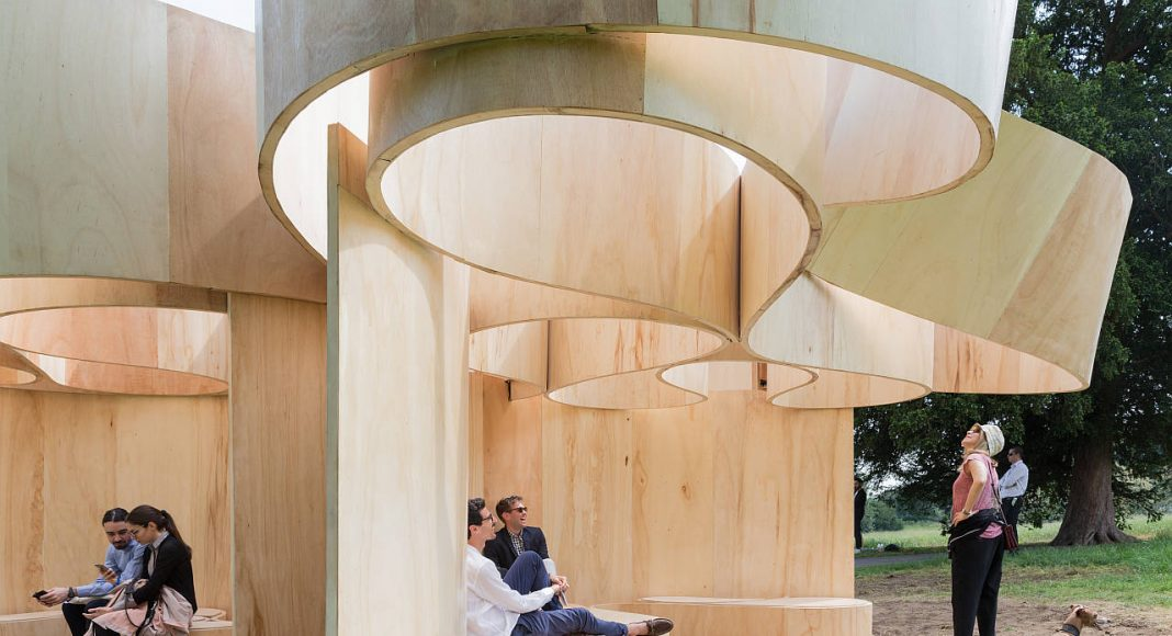 Serpentine Summer House 2016 designed by Barkow Leibinger; (10 June – 9 October) : Photo © Iwan Baan