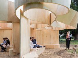 Serpentine Summer House 2016 designed by Barkow Leibinger; (10 June – 9 October) : Photo © Iwan Baan