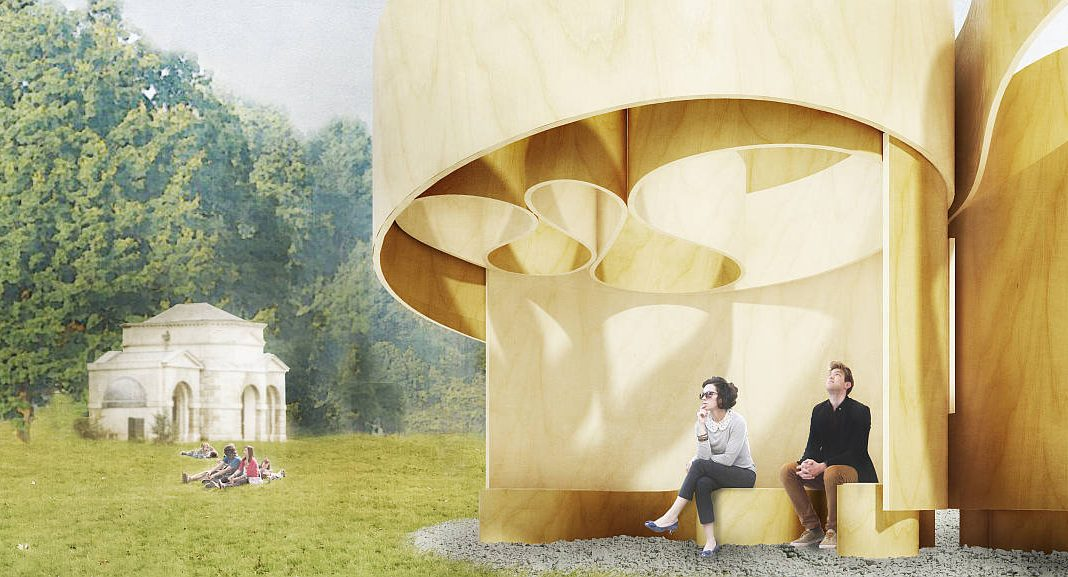 Serpentine Summer House 2016 designed by Barkow Leibinger : Design render © Barkow Leibinger