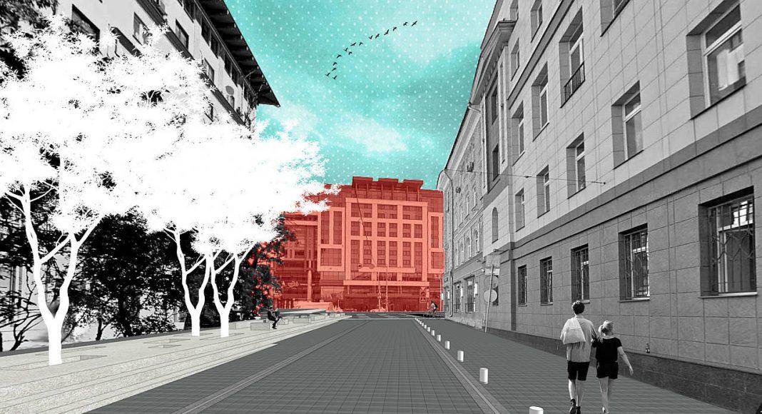 Diseño Finalista del Concurso para el Mejoramiento del Entorno Urbano de Tversakaya en Moscú : Render © BuroMoscow