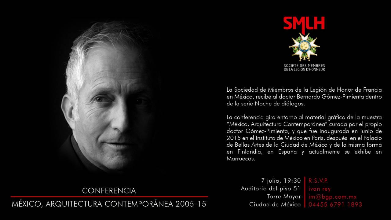 Conferencia México Arquitectura Contemporánea 2005-15 Impartida por el Dr. Bernardo Gómez-Pimienta : Cartel © bgp arquitectura