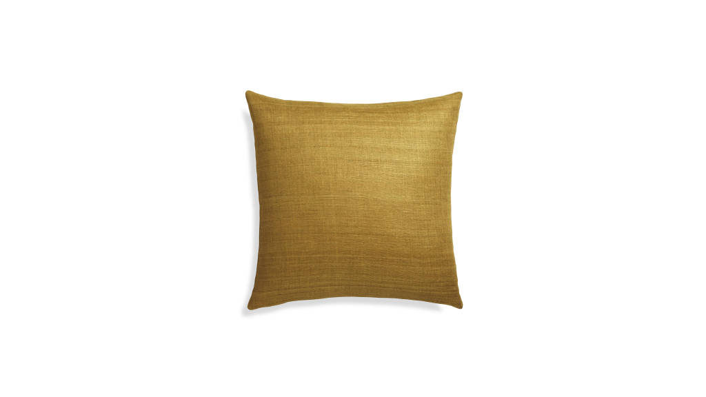 Michaela Gold Pillow : Photo © Crate & Barrel
