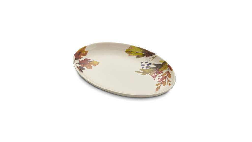 Autumn Foilage Platter : Photo © Crate & Barrel