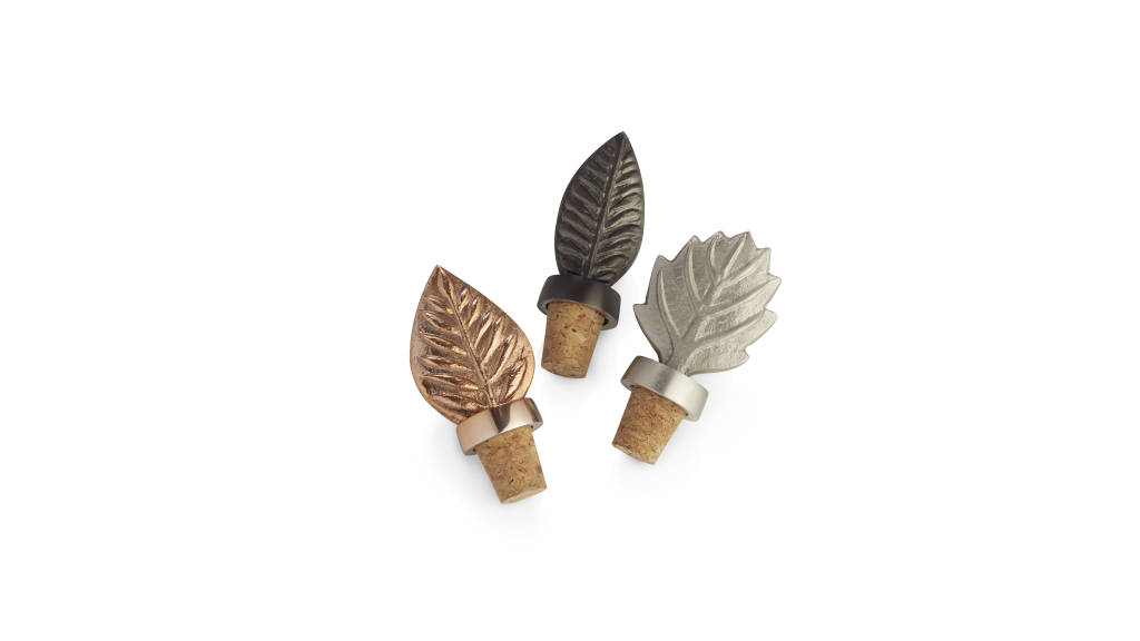 Leaf Bottle Stoppers : Photo © Crate & Barrel