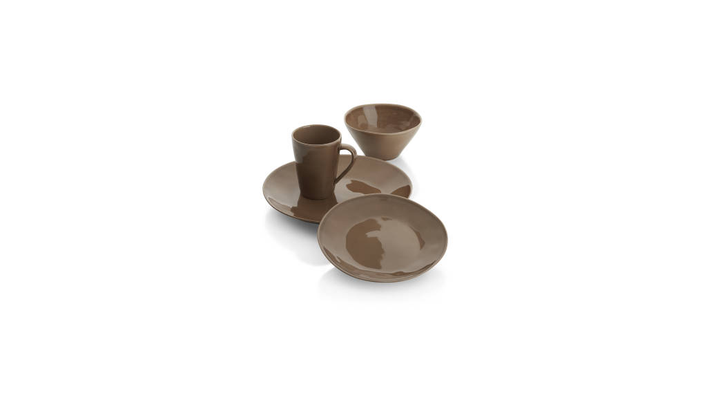 Marin Taupe Color 4 Pc Place setting : Photo © Crate & Barrel