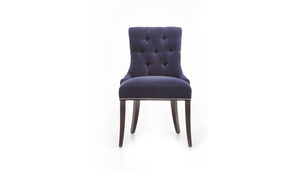 Cecelia Chair Vineyard Navy : Photo © Crate & Barrel