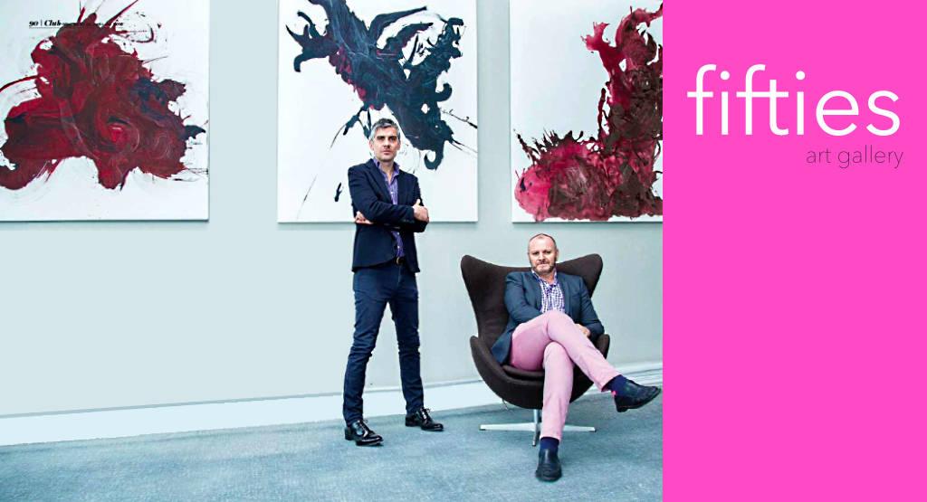 Museógrafo José Manuel Guerrero y el curador y gestor cultural Javier Ferrer i Serra : Fotografía © Fifties Collector's Club