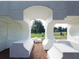 Serpentine Summer House 2016 designed by Kunlé Adeyemi (NLÉ); (10 June – 9 October); Photo © Iwan Baan