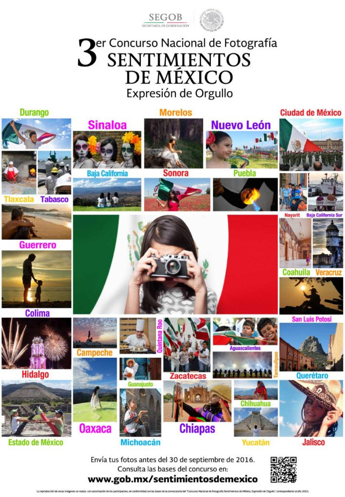 Tercer Concurso Nacional de Fotografía #SentimientosdeMéxico : Poster © gob.mx
