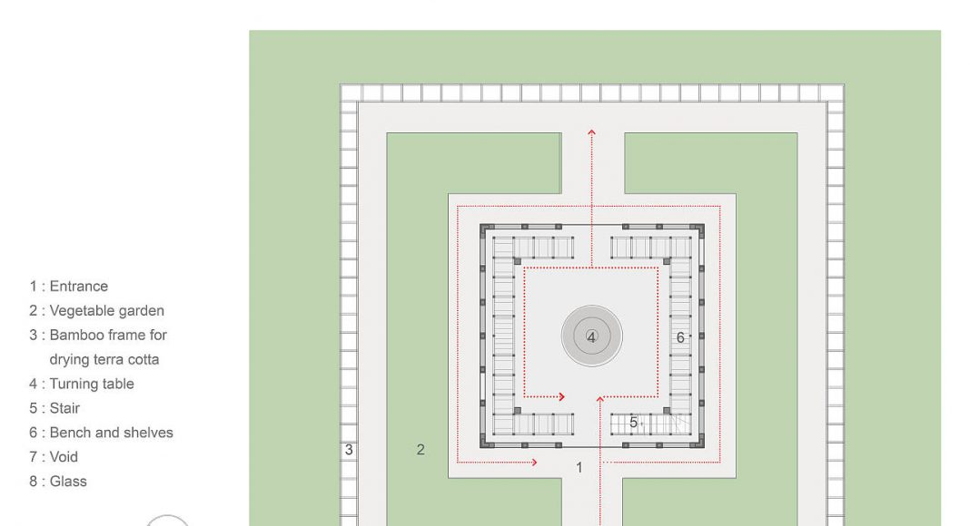 Terra Cotta Studio Ground Floor by Tropical Space : Drawing © TROPICAL SPACE
