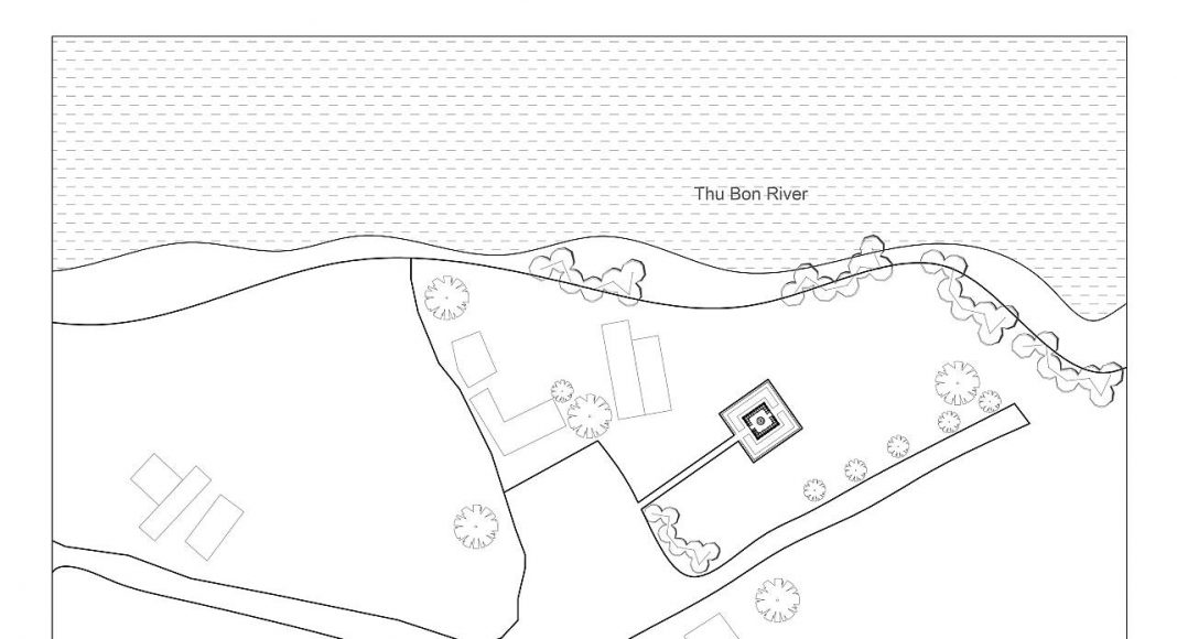 Terra Cotta Studio Site Plan by Tropical Space : Drawing © TROPICAL SPACE