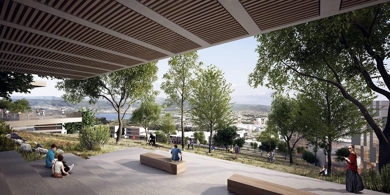Plan Maestro Cerro Norte en León, Guanajuato por la oficina mexicana a | 911 y a la norteamericana Sasaki : Render © a | 911 y © Sasaki