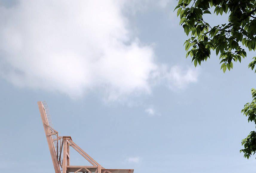 The Cloud Pavilion Exterior by Schmidt Hammer Lassen Architects : Render © Schmidt Hammer Lassen Architects