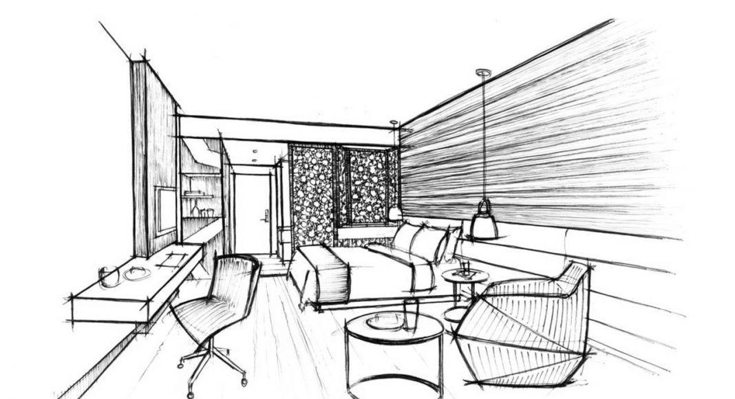 Radisson Blu Marrakech Sketch Perspective : Photo credit © Atelier Pod