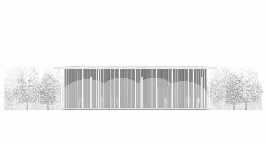 The Cloud Pavilion Elevation by Schmidt Hammer Lassen Architects : Drawing © Schmidt Hammer Lassen Architects