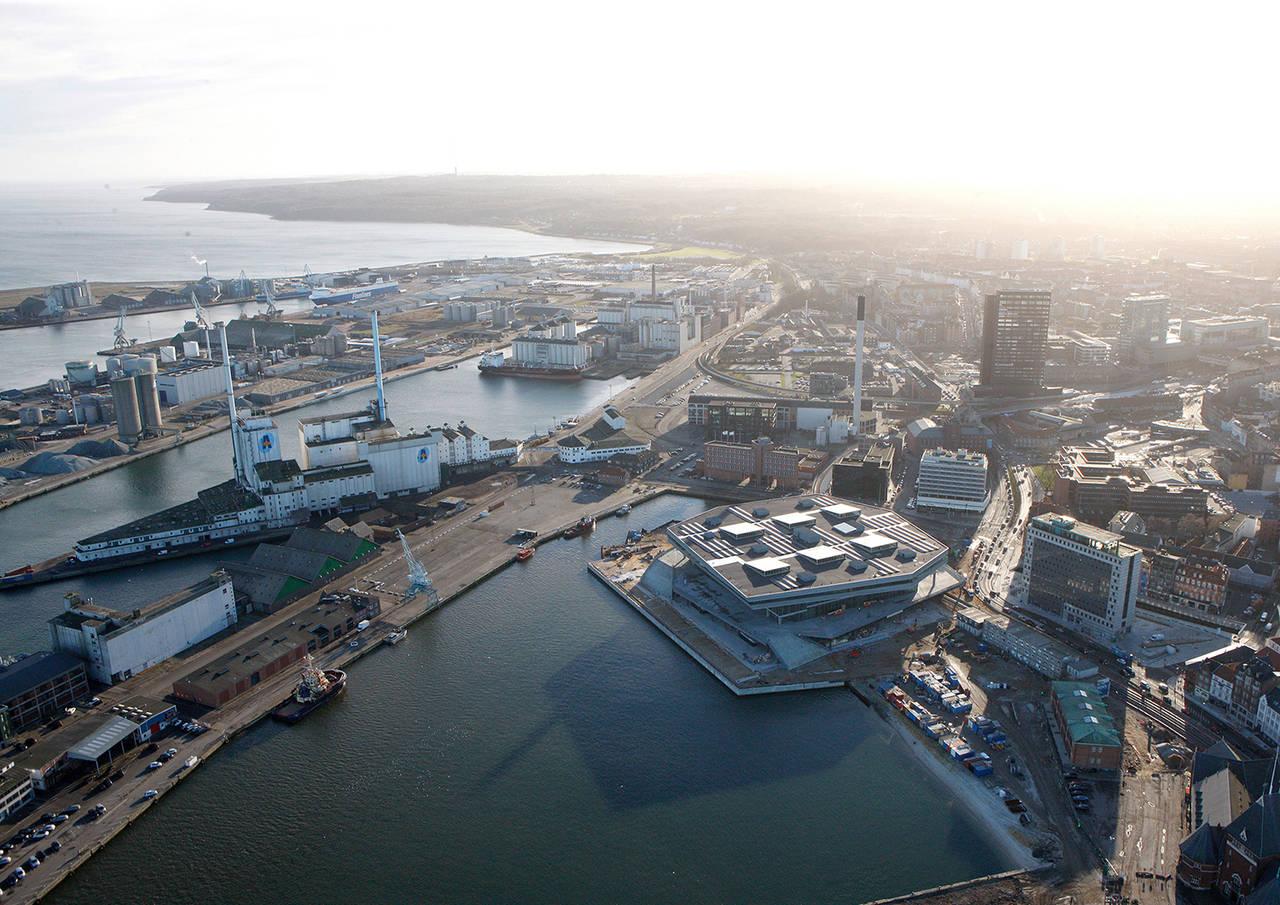 Dokk1 Aerial View by Schmidt Hammer Lassen Architects : Photo © Schmidt Hammer Lassen Architects