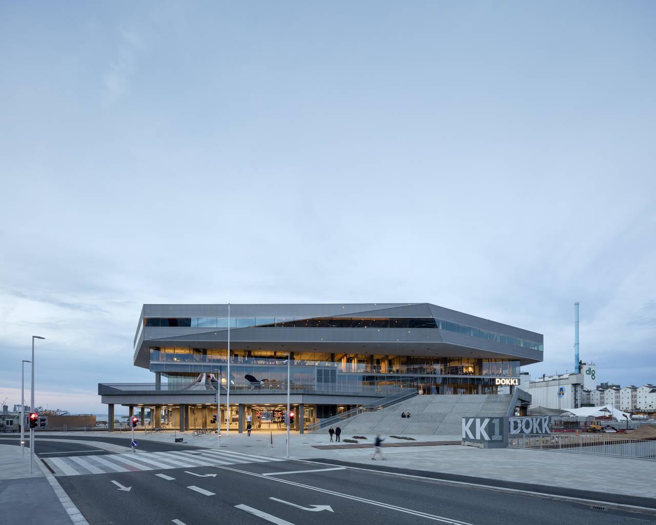 Dokk1 Exterior View by Schmidt Hammer Lassen Architects : Photo © Schmidt Hammer Lassen Architects