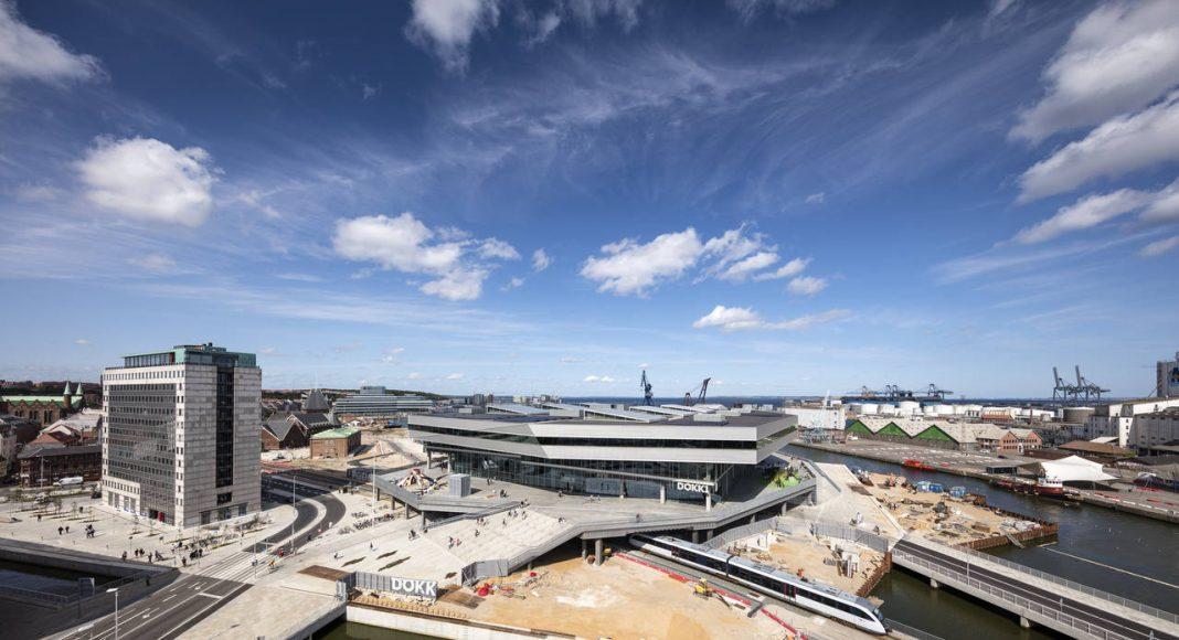 Dokk1 Exterior Under Construction by Schmidt Hammer Lassen Architects : Photo © Schmidt Hammer Lassen Architects