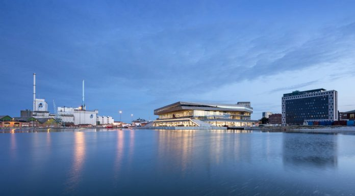 Dokk1 View from the Harbor by Schmidt Hammer Lassen Architects : Photo © Schmidt Hammer Lassen Architects