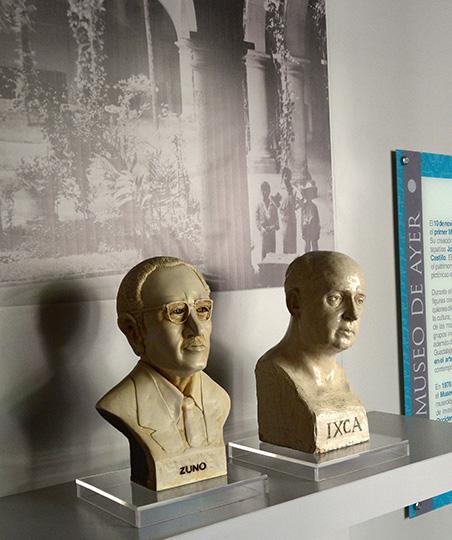 Bustos de Guadalupe Zuno e Ixca Farias : Foto © Héctor Montaño INAH