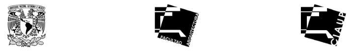 Logos © Facultad de Arquitectura de la UNAM
