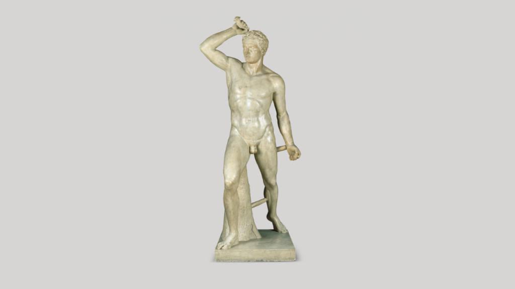 Gladiador Romano (ca. 1830) José María Labastida - Mármol 201 x 86 x 89.5 cm, Museo Nacional de Arte / INBA : Fotografía cortesía del © Museo Nacional de Arte