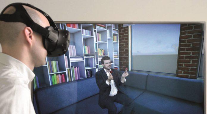 Justo en el centro de la acción con lentes de RV: Un nuevo sistema de cámaras representa virtualmente a las personas de forma natural y realista : Photo © Fraunhofer HHI