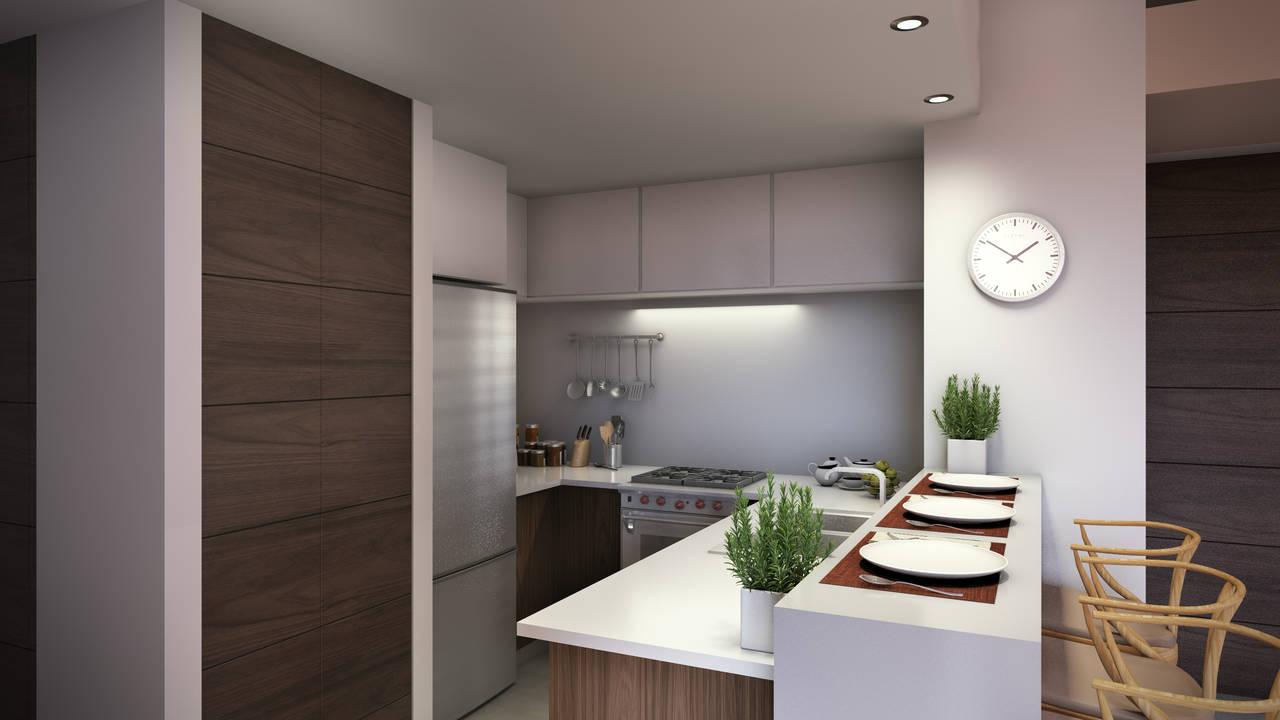 Presentan el proyecto m s exclusivo de departamentos en for Cocina departamento