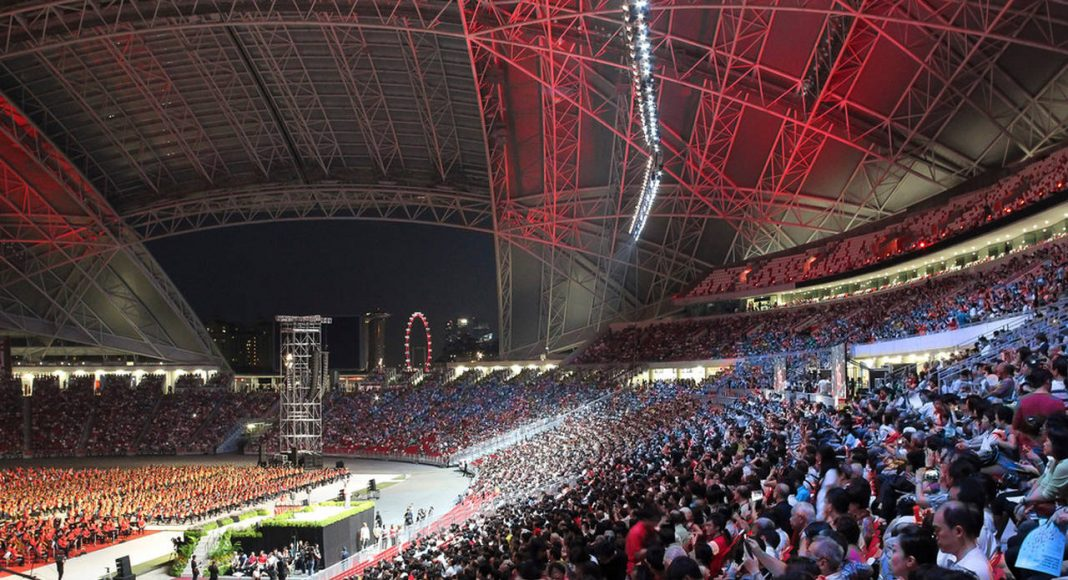 Singapore National Stadium is the first stadium in the world purpose-built for Athletics, Cricket, Football and Rugby : Photo credit © Arup Associates