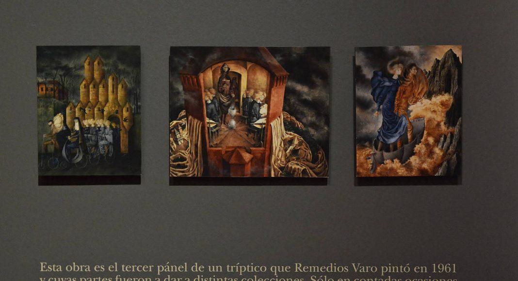 Triptico de 1961 creado por la artista Remedios Varo : Fotografía © Museo de Arte Moderno