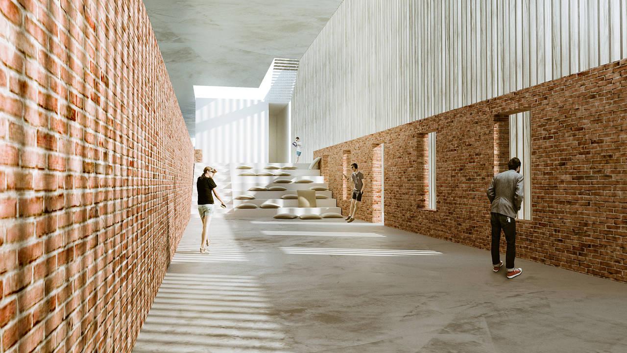 PRIMER PREMIO - TEAM D.Vision Architecture | MEMBERS Kiana Jalali, Matteo Pagani, Francesco Lanza, Alessandro Vitale : Render courtesy of © YAC