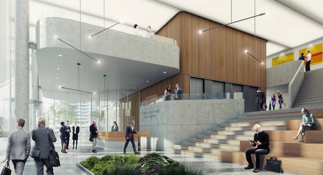 Breiavatnet Lanterna Ground Floor en Stavanger, Noruega by Schmidt Hammer Lassen Architects : Render © Schmidt Hammer Lassen Architects