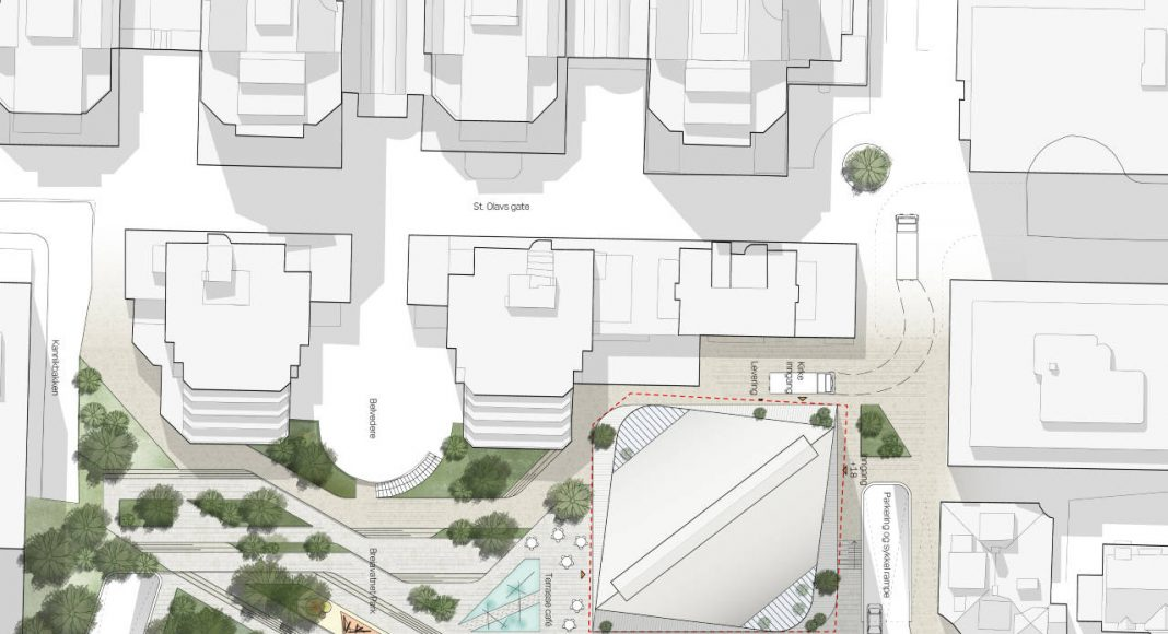 Breiavatnet Lanterna Site Plan 1:500 en Stavanger, Noruega by Schmidt Hammer Lassen Architects : Render © Schmidt Hammer Lassen Architects