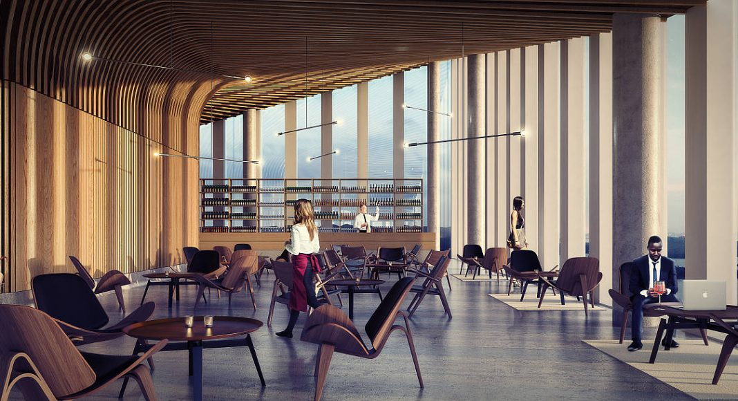 Breiavatnet Lanterna Top Floor en Stavanger, Noruega by Schmidt Hammer Lassen Architects : Render © Schmidt Hammer Lassen Architects