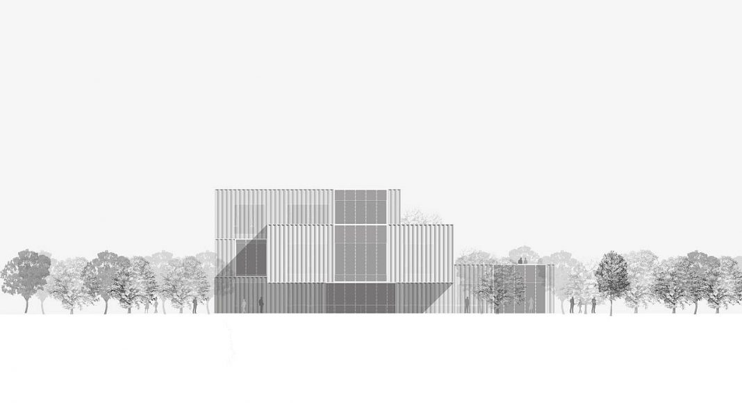CaoHeJing Innovation Incubator Shanghai/ China Elevation by Schmidt Hammer Lassen Architects : Drawing © Schmidt Hammer Lassen Architects