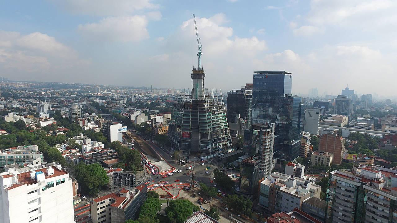 Obra en Construcción de la Torre Manacar : Fotografía © Pulso Inmobiliario