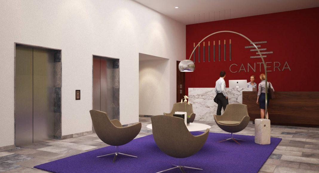 Vista Interior del Lobby Nivel 1 del Proyecto CANTERA : Render cortesía de © Carza