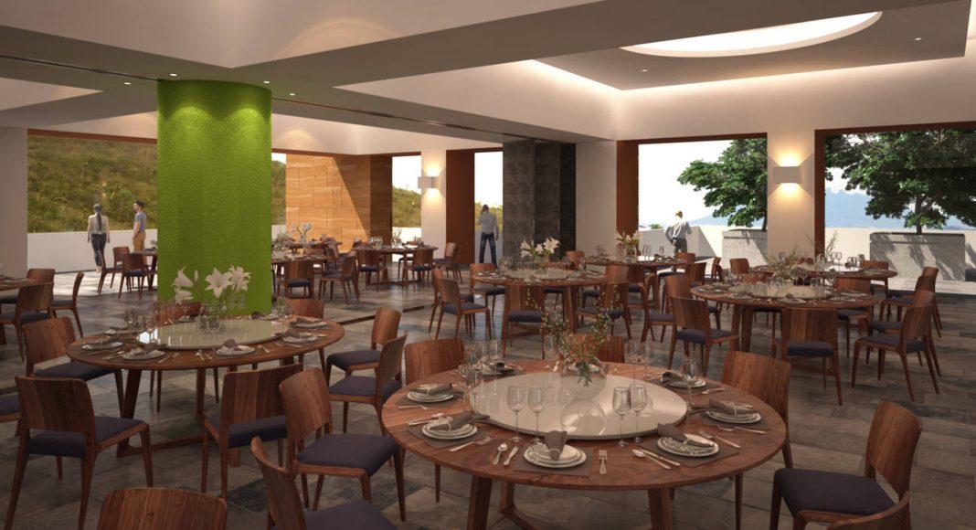 Vista Interior del Salón de usos múltiples y salas de reunión Nivel 1 del Proyecto CANTERA : Render cortesía de © Carza