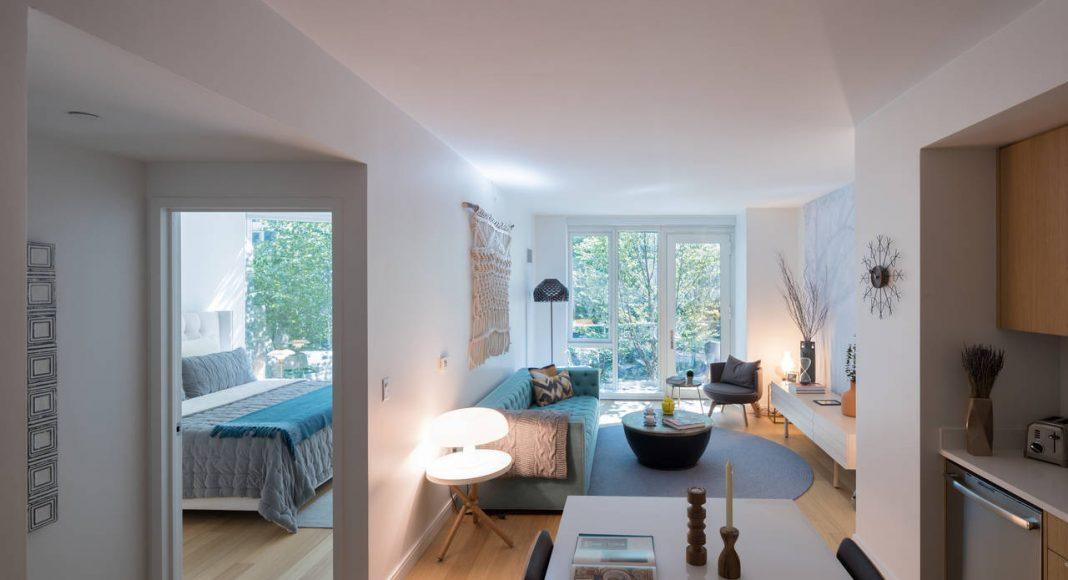 VIΛ 57 West Interior Apartment View by BIG – Bjarke Ingels Group : Photo credit © Iwan Baan