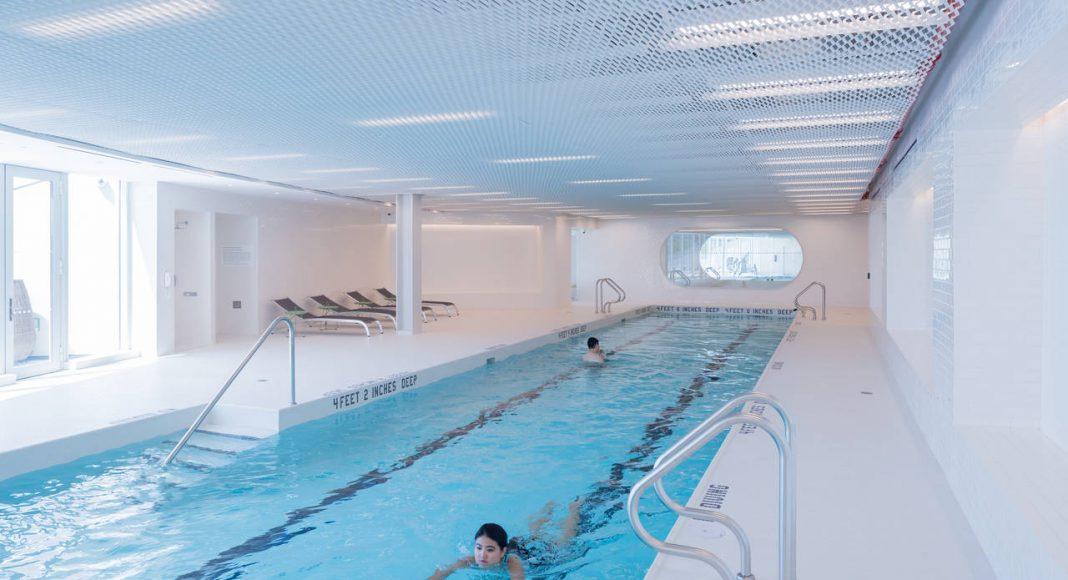 VIΛ 57 West Interior Pool by BIG – Bjarke Ingels Group : Photo credit © Iwan Baan