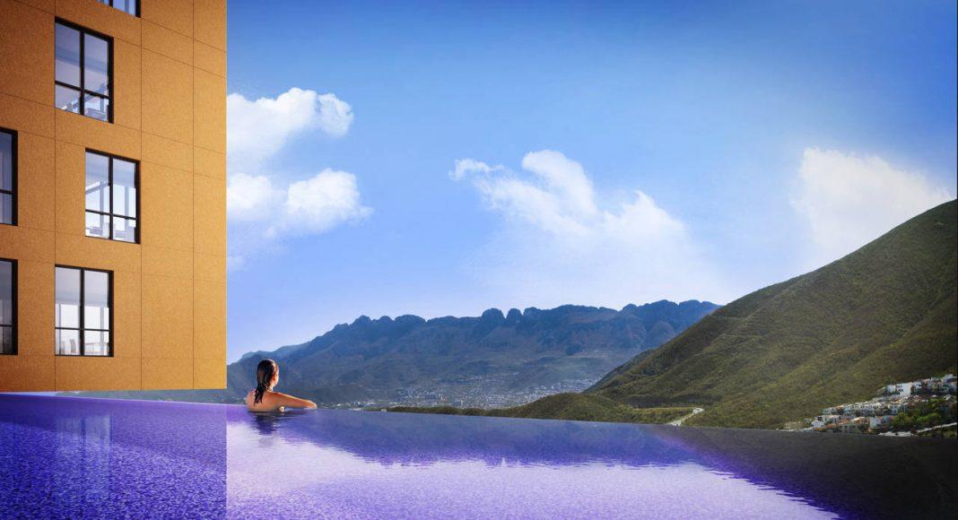 Vista de la Alberca Panorámica del Proyecto CANTERA : Render cortesía de © Carza