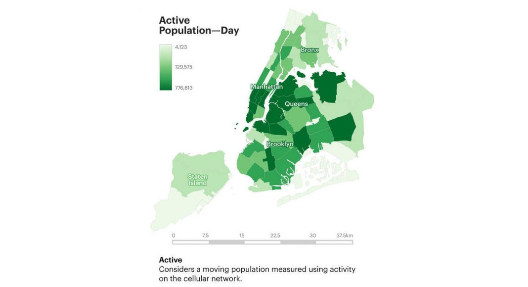 Active Population Day : Infographic © Senseable City Laboratory :: MIT