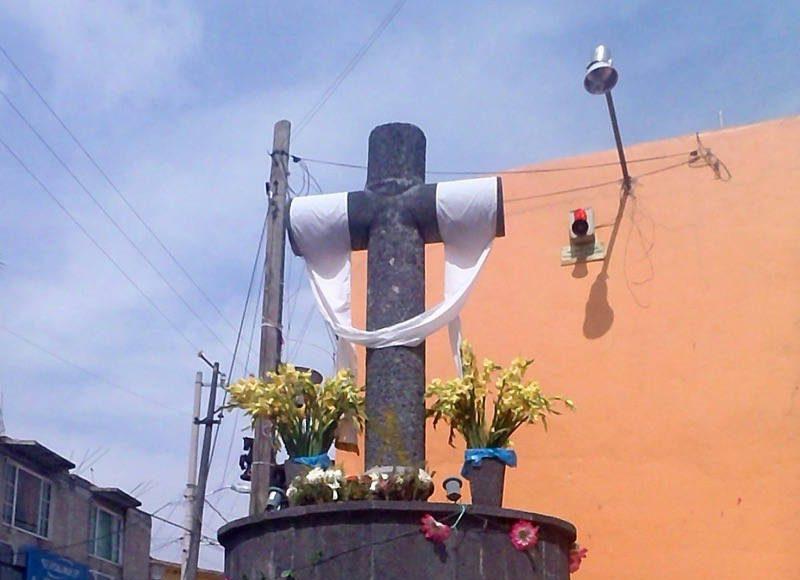 Cruz del Apostolado. Barrio San Antonio : Foto © INAH