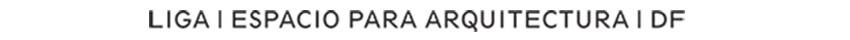 Logo © LIGA, Espacio para Arquitectura, DF
