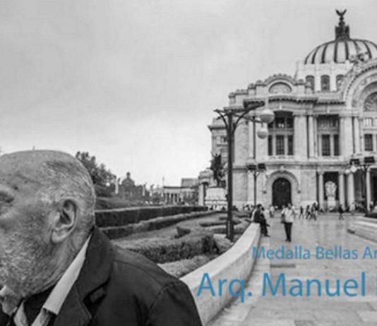 El arquitecto Manuel Larrosa recibe la Medalla Bellas Artes : Fotografía © INBA