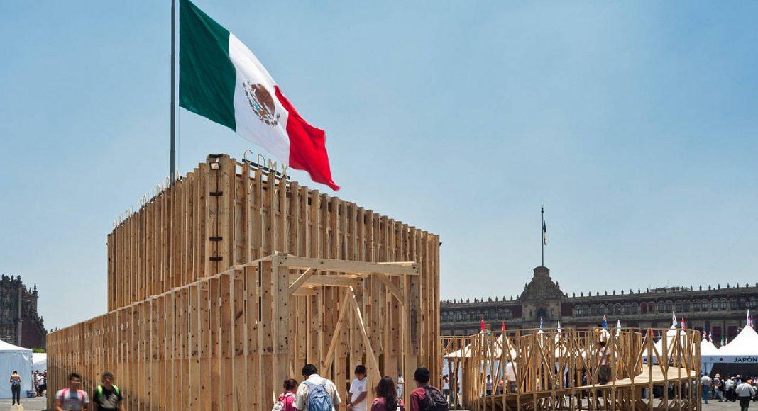 Pabellón Feria de las Culturas Amigas 2014 por PRODUCTORA : Fotografía cortesía de © LIGA, Espacio para Arquitectura, DF