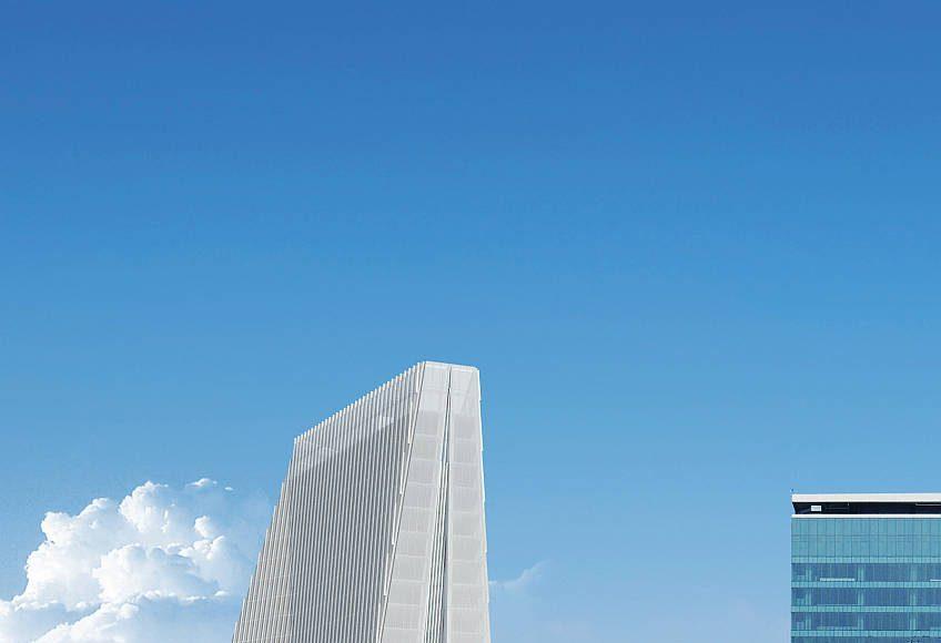 Vista Frontal de la Torre Manacar : Render © Pulso Inmobiliario