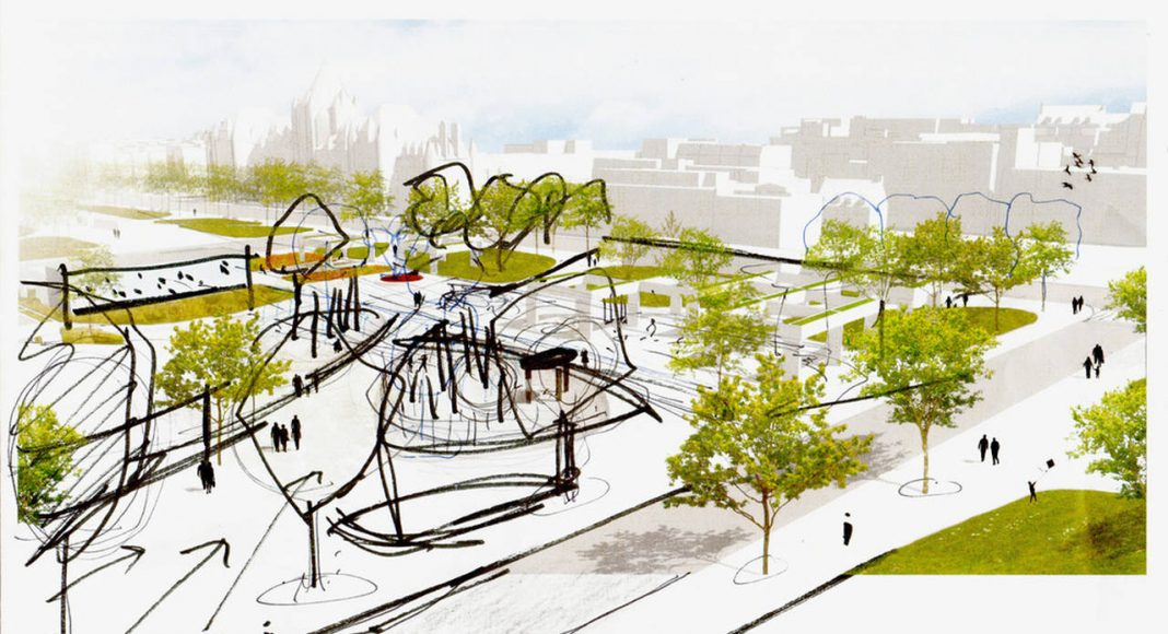 Sketch of spatial relationships along Saint-Denis street (Daudelin block) : Photo credit © NIPPAYSAGE